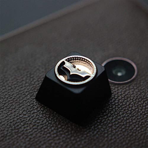 WMNRNYD Keycap en Alliage d'aluminium de Zinc, 1 Pcs translucide personnalisé Bricolage Casquettes de Clavier mécanique, OEM R4 Keycaps en Relief tridimensionnel,Batman searchlight