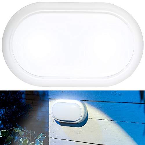 Luminea Feuchtraumlampen: Stoßfeste LED-Feuchtraumleuchte, 1.050 lm, 15 Watt, 4000 K, IP54, IK08 (Kellerleuchte)