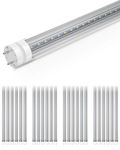 SHINESTAR 24-Pack 4FT LED Tube Lights, 5000K Daylight T8 LED Bulbs 40 watt Fluorescent Replacement, Dual End Ballast Bypass, T8 T12 Type B Light Tubes, Non-dimmable