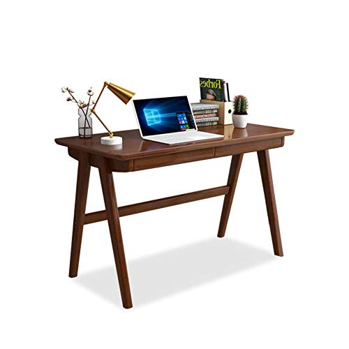 YB&GQ Computer Desk with Hutch,Modern Large Study Table Writing Desk Workstation for Home Office,Wood Compact Home Office Desk-Brown 120x60x75cm(47x24x30inch)