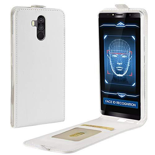 Litao-Case CN Hülle für oukitel K6 hülle Flip Leder + TPU Silikon Fixierh Schutzhülle Case 4