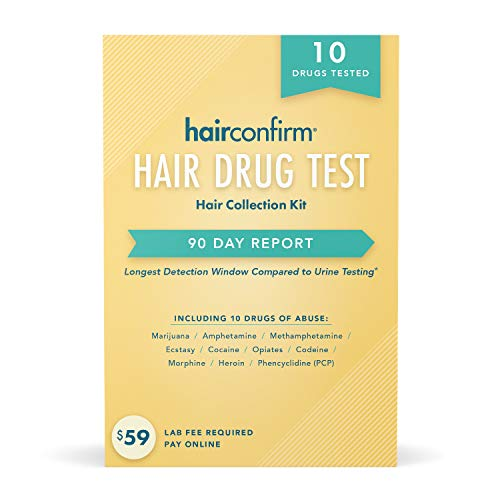 HairConfirm 10 Panel Hair Drug Test Collection Kit Only, 90...