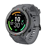 ZYMQ Hombres Mujeres IP68 Deporte Impermeable Pulsera Aptitud Pulsera Monitor de Salud Reloj Digital Smart Reloj para Android iOS,Gris