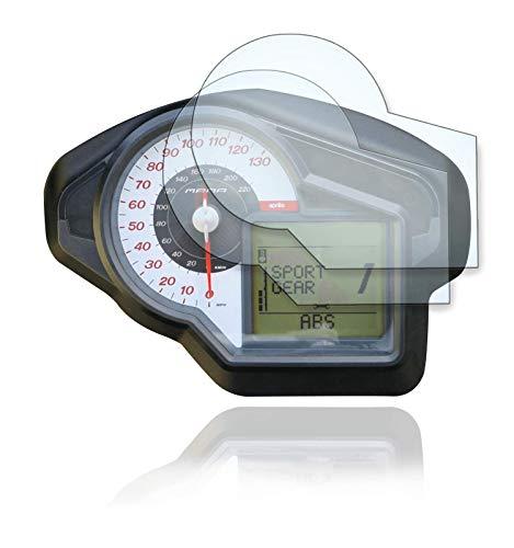 [2 Stück] Displayschutzfolie Tacho Schutzfolie geeignet für Aprilia Mana 850 GT 2x Anti Glare