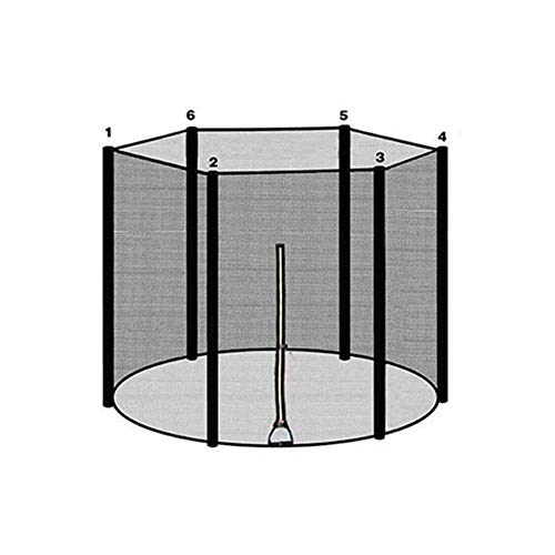Chlius - Red de seguridad de repuesto para cama elástica, 244 cm