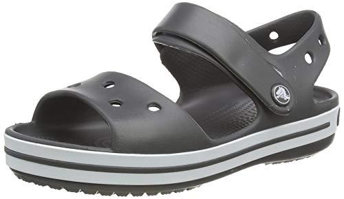 crocs Unisex-Kinder Crocband Kids Outdoor Sandals, Grau(Graphite), C8 (24/25EU)