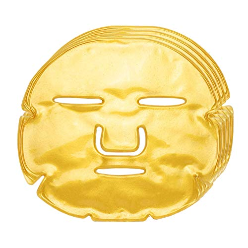 Greenlife 10 Pieces 24K Gold Face Mask Hydrating Collagen Gel Gold Facial Masks Sheets Crystal gel Patches For Anti Aging, Blemishes Firming Hydrogel Deep Reduce Wrinkles and Fine Lines Moisturizing