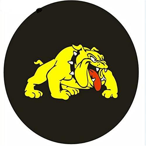 Funda Para Rueda 1 unids Car Negro 14', 15', 16', 17 'pulgadas Logotipo de perro PU Cubiertas de válvula de rueda de neumáticos de neumático para coches accesorios (Color : 15 inch dog)