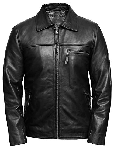 Men Cowhide Leather Jackets