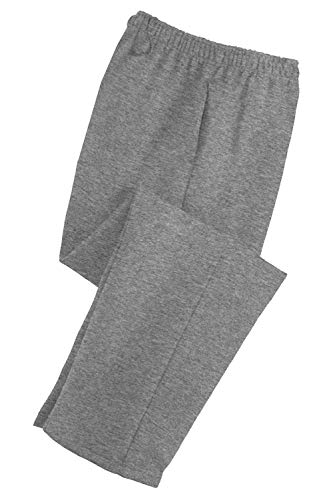 Adult Soft and Cozy Classic Style Open Bottom Sweatpants in 8 Colors Athletic Heather