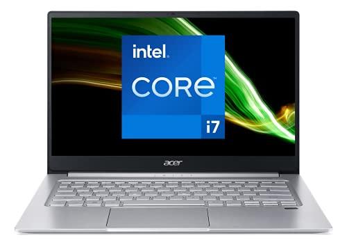 Acer Swift 3 SF314-59-740D Intel Core i7 Ordinateur Portable Ultrafin 14'' FHD IPS, PC Portable (RAM 8 Go, SSD 512 Go, Intel Iris Xe, Windows 10) - Clavier AZERTY (Français), Laptop Gris