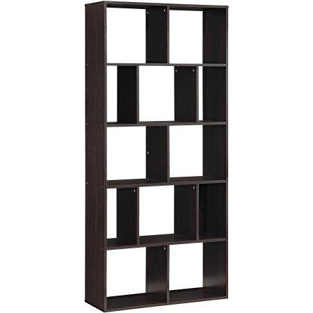 Mainstays Home 12-Shelf Bookcase, Espresso