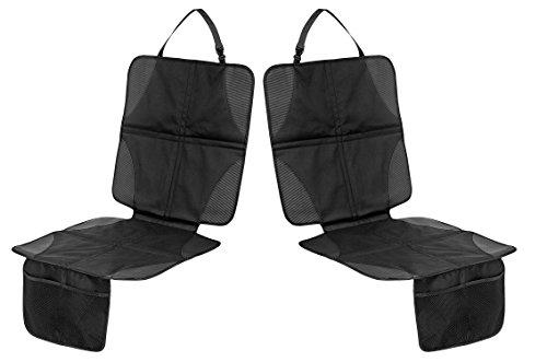 FILFIA Kindersitzunterlage, 2er Pack, Schwarz