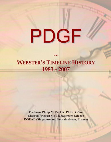 PDGF: Webster's Timeline History, 1983 - 2007