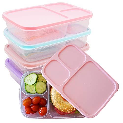 Juego de fiambreras – para Meal Prep emfohlen – Juego de 4 recipientes herméticos aptos para microondas, congelador y lavavajillas, sin BPA