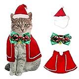 QIMMU Costume Noël pour Chat Chien, Noël Vêtements pour Chien Chat Animaux...