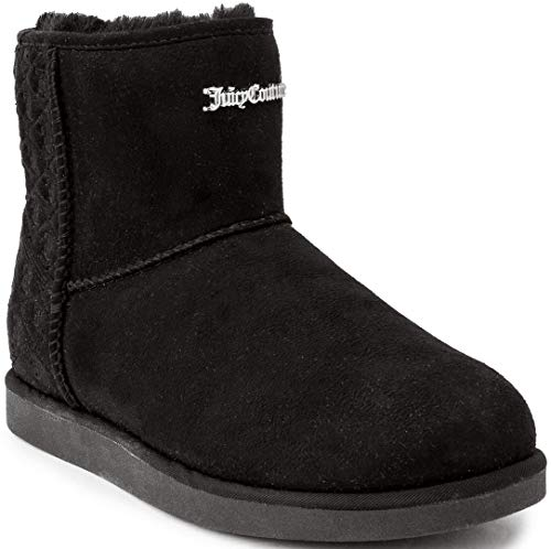 Juicy Couture Women's Kave Slip On Winter Boots Warm Winter BootiesBlack 8