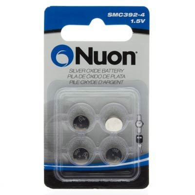 Nuon - (4 Pack) SMC392-4 1.5V Silver Oxide Watch Battery