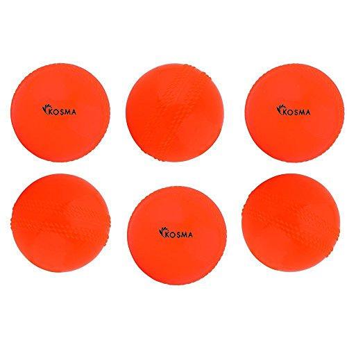 Kosma 6 Windball Cricket Ball | Soft Training Ball | Indoor/Outdoor Praxis Kugel - Orange