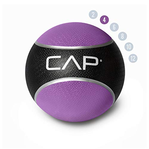 CAP Barbell Medicine & Exercise Ball - Durable Rubber & Consistent Weight Distribution; Comfort Textured Grip for Strength, Balance & Core Training, Multiple Choices Available