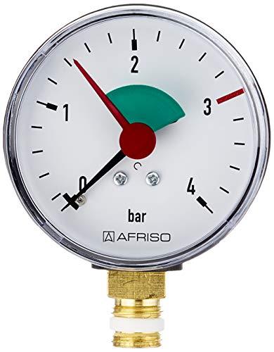 Sanitop-Wingenroth 27169 1 Rohrfeder-Manometer, Anschluss von unten-1/4 Zoll