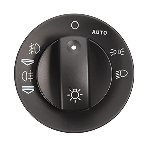 ZZXL Faro de la luz de la luz del interruptor de la luz del interruptor de la luz del interruptor de la cubierta Fit para Audi A4 S4 8E B6 B7 2000-2007 con función automática Accesorios para automóvil