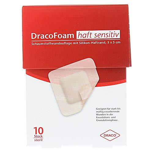 DRACOFOAM Haft sensitiv Schaumst.Wund.5x5 cm 10 St