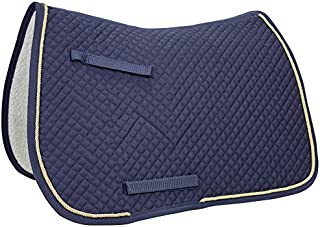 Derby Originals All Purpose Horse Saddle Pad with Fleece Padding & Gold Rope