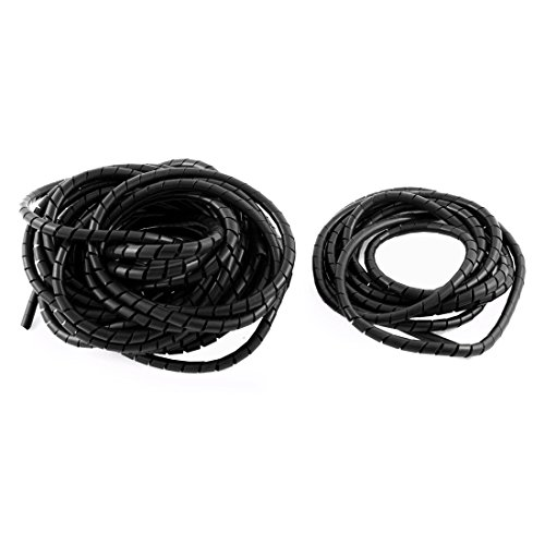 Aexit Spiral Wrapping Shaft Collars Band Cable Wire Manager 6mm Dia 10M Heat Shrinkable Shaft Collars 2.5M 2PCS