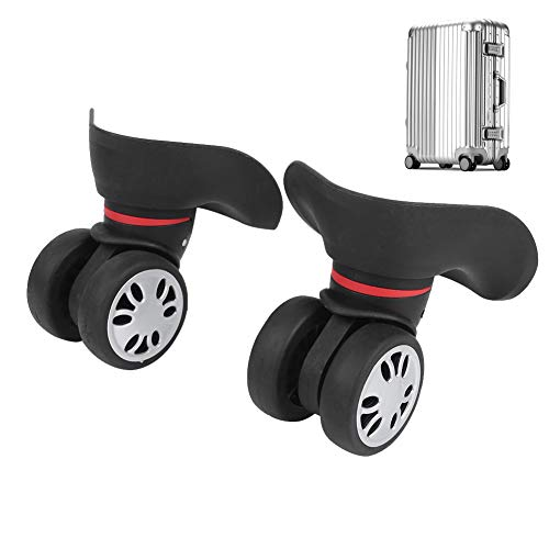 Keenso 1 Pair Luggage Wheels, Durable PP+PET Luggage Wheels Replacement Suitcase Wheels For Outdoor Travel(Small Black)