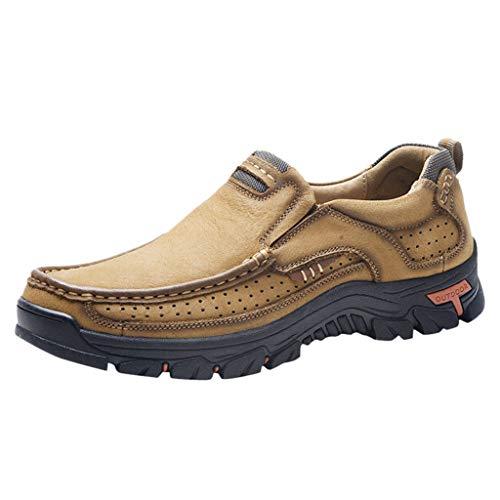 Herren Schuhe Staresen Freizeitschuhe Wanderschuhe rutschfeste Schuhe aus Rindsleder Laufschuhe Große Outdoor-Schuhe für Herren Runde, Laufschuhe Jahreszeiten Schuhe Größe:38-48
