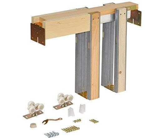 Johnson Hardware 1500 Series Commercial Grade Pocket Door Hardwarw for 2x4 Stud Wall (30 Inch x 80 Inch)
