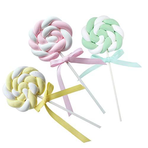 PRETYZOOM - Juego de 3 decoraciones para cupcakes, dulces, decoración de Navidad, para bodas, cumpleaños, Navidad, fiestas