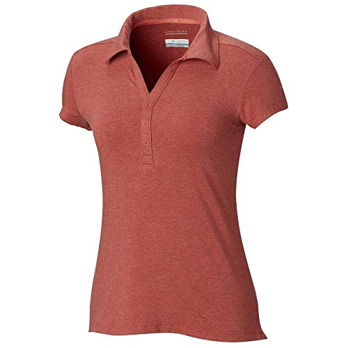 Columbia Shadow Time Polo pour Femme Rouge Corail XS