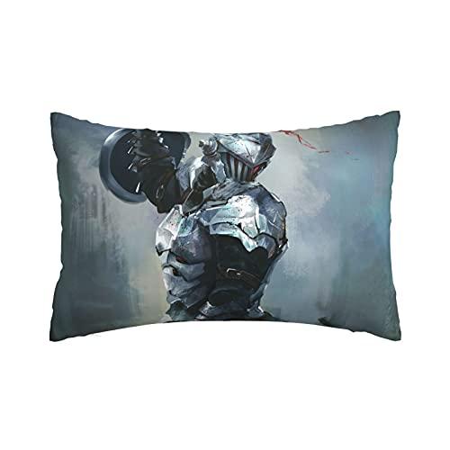 Goblin Slayer Shield - Funda de almohada de color plateado con funda de almohada suave, fundas de almohada de lujo de 50,8 x 76,2 cm para dormitorio, dormitorio, sofá, hogar
