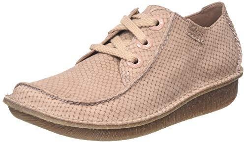 Clarks Funny Dream, Zapatos de Cordones Derby Mujer, Rosa (Dusty Pink Nubuck), 37 EU