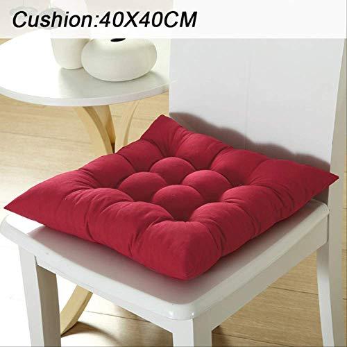 Geen zonneligstoel voor de tuin, lange kussens, zacht, sterk, opvouwbaar, kussen voor schommelstoel, kussen voor lange stoelen. 40X40cm Rosso Drak