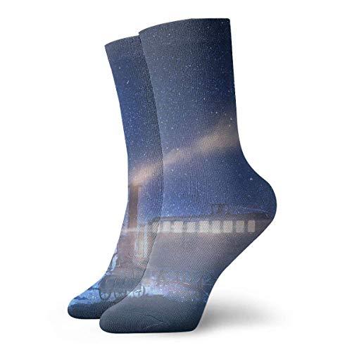 Steam Train Smkoe Star Sky Dream Calcetines Cortos para Adultos Calcetines Lindos Yoga Senderismo Ciclismo Correr Fútbol Deportes