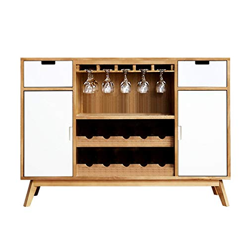 Anchor1 Kitchen Sideboard Buffet,Solid Wood Storage Cabinet,Console Table with Wine Rack, Furniture Cupboard for Dining Room