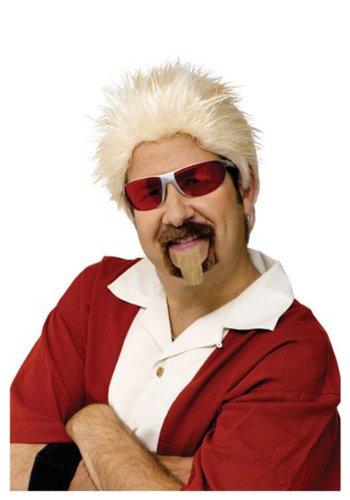 Fun World Unisex-Adult's Celebrity Chef Wig & Goatee, gold, standard