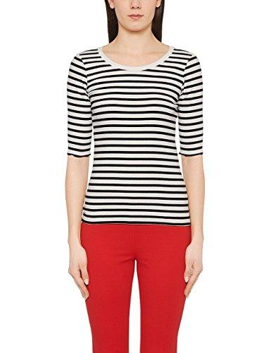 Marc Cain Essentials Damen T-Shirt +E4809J91, Schwarz (Black 900), 40 (4)