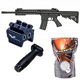 Pack Completo Rifle de Airsoft M4 keymod Cyma CM515 / Color: Negro/Plástico polímero de Alta Resistencia/Recarga Manual (0,5 Julios) / Se suministra con Accesorios