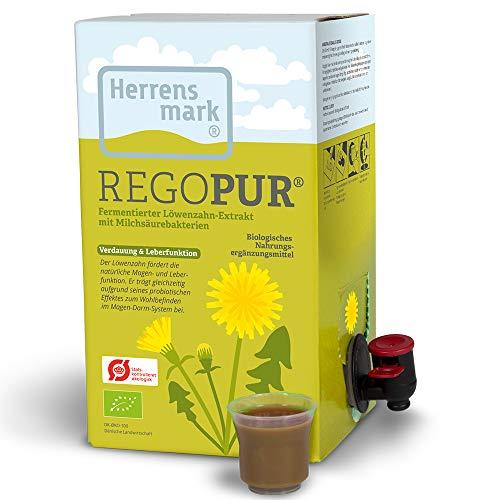 REGOPUR - Fermentierter Löwenzahn-Extrakt (1 Liter) - Aus den Blättern, Blüten und Wurzeln des Löwenzahn - Unterstützt die natürliche Verdauung und Leberfunktion.