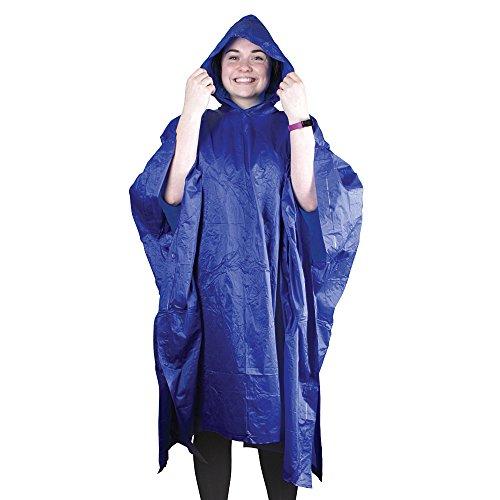 eBuyGB pour Homme 1320504–3 réutilisable étanche Poncho (Lot de 3), Bleu, Taille Unique