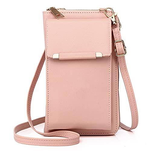 LPOQW Bolso de piel para mujer, para teléfono móvil, para mujer, color rosa