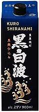 黒白波 スリム 芋 25度 [パック] 900ml x 6本[ケース販売] [薩摩酒造/芋焼酎/鹿児島県]