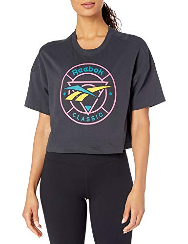 Reebok Womens Classic Vector Trail Tee Cropped