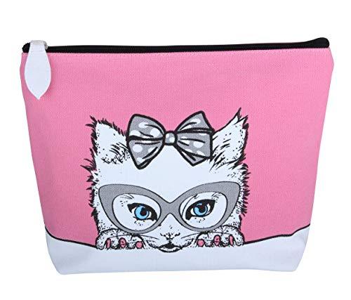 FMG, Trousse de Toilette Femme Multicolore Cat Design
