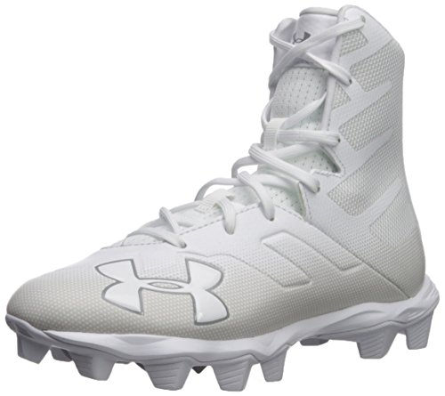 Under Armour Boy's Highlight RM Jr. Football Shoe, White (100)/White, 1