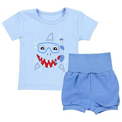 TupTam Baby Jungen Sommer Bekleidung T-Shirt Shorts Set, Farbe: Haifisch Blau, Größe: 92/98